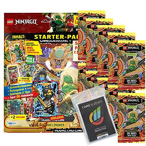 Blue Ocean Lego Ninjago 6 Next Level Trading Cards - Bundel mit 1 Starter + 10 Booster + Collect-it Hüllen Sleeves