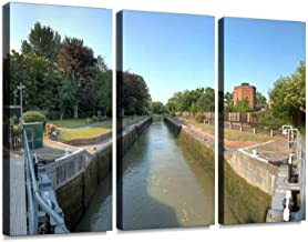 Romney Lock Print On Canvas Wall Artwork Modern Photography Home Decor Unique Pattern Stretched and Framed 3 Piece