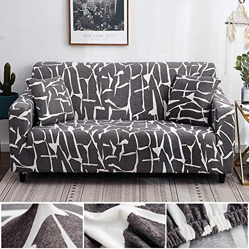 ASCV Funda de sofá geométrica elástica elástica Moderna Funda de sofá para Silla Fundas de sofá para Sala de Estar Protector de Muebles A5 4 plazas