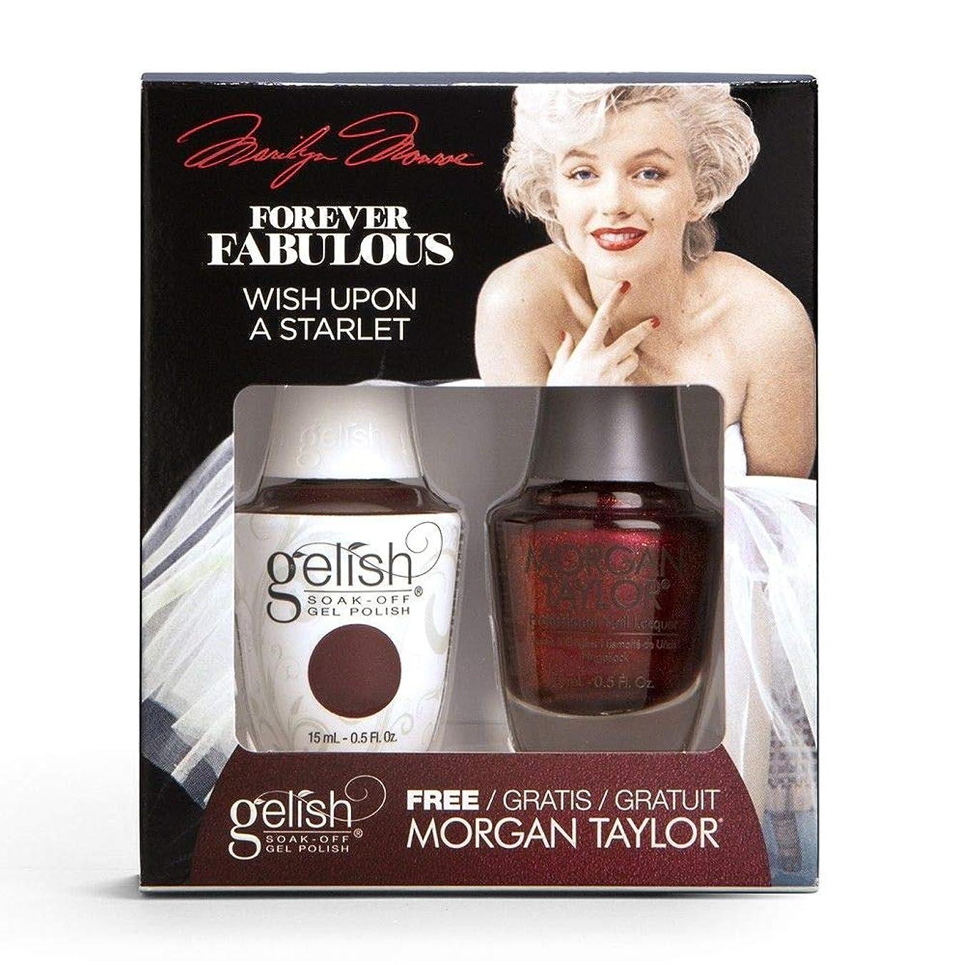 パワープレートキッチンHarmony Gelish & Morgan Taylor - Two Of A Kind - Forever Fabulous Marilyn Monroe - Wish Upon A Starlet - 15 mL / 0.5 Oz