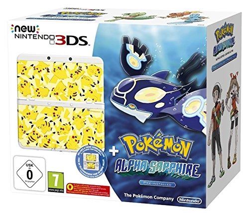 New Nintendo 3DS inkl. Pokémon Alpha Saphir + Zierblende