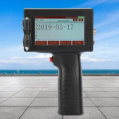 Handheld Inkjet Printer 300DPI with Touch Screen, Date QR Code Label Logo Trademark Printing Machine