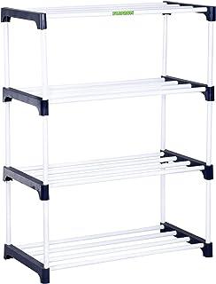 FLIPZON Premium Metal, Plastic Shoe Rack/Storage Rack (Rustproof) (4 Shelves)