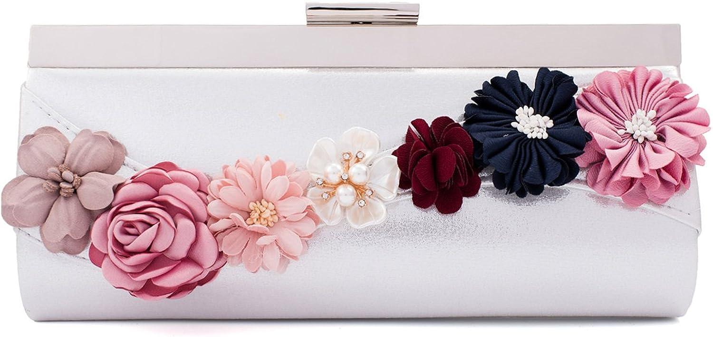 Darama Women's Wedding Bridesmaid Flowers Decorative Clutch Bag