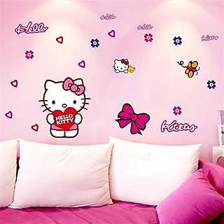 Wandaufkleber für Kinderzimmer Hello Kitty Süße Wandaufkl