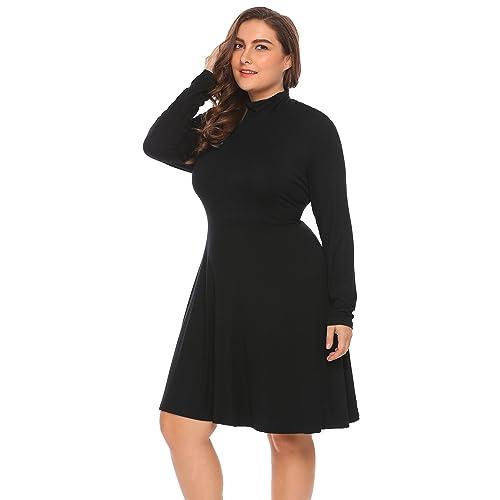 Plus Size Turtleneck Dress: Amazon.com