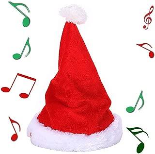 Yansanido Twerking Santa Electric Hat, 13'' Singing & Dancing Christmas Hat Plush Toy Stuffed Electric Toys Good Xmas Gift for Children (Hat)