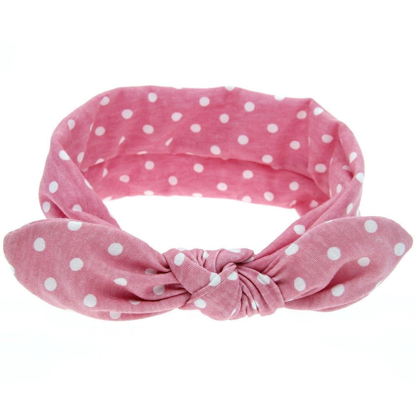 パック泥沼にYOKINO 女性 女子 赤ちゃん ヘアバンド ウサギの模様 洗濯可能 旅行、機内、運動 薄い 軽量 柔らか可愛い ウサギのヘッドバンド (ピンク)