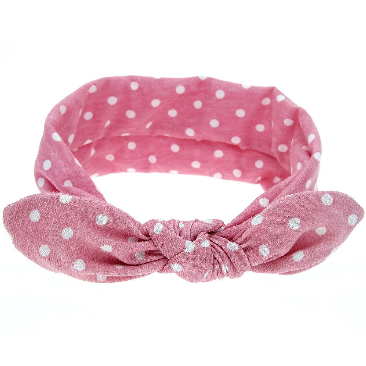 発動機評決メディアYOKINO 女性 女子 赤ちゃん ヘアバンド ウサギの模様 洗濯可能 旅行、機内、運動 薄い 軽量 柔らか可愛い ウサギのヘッドバンド (ピンク)