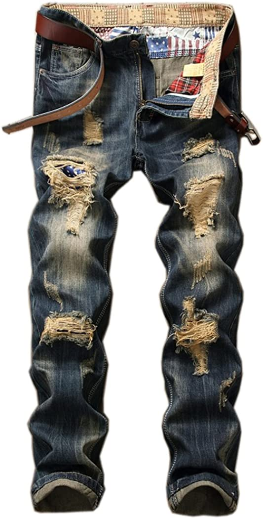 Men's Ripped Slim 5 Designs Bombing free shipping Austin Mall Jeans