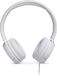 JBL On-Ear Headphone In-Ear Headphone with One-Button Remote/Mic, JBLT500WHTAM