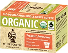 White Coffee Organic Single Serve Coffee, Freaking Awesome, 10 Count (Pack of 4)