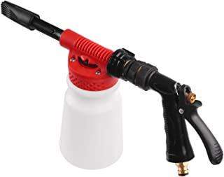DDSKY Professional Car Washing Snow Foam Cannon with Heavy Duty Bottle 900ml, High Pressure Adjustable Snow Foamer Lance Car Wash Gun