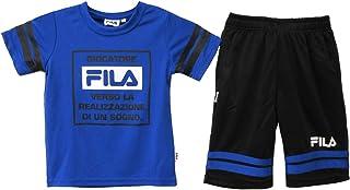 FILA 半袖 Tシャツ ハーフパンツ ジャージ 上下セット 100cm 110cm 120cm 130cm 23レッド 43ロイヤルブルー B1963