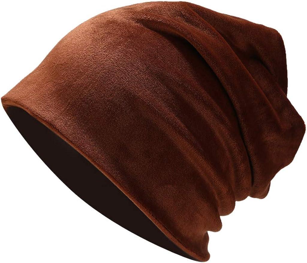 Lenfesh Warme Beanie M/ützen Grau Cap Damen Weichem Fleece Innenfutter Winterm/ütze elastisches Long Slouch Beanie Unisex Herren Damen M/ütze