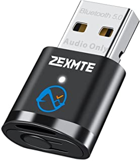 Bluetooth Adapter for PC, ZEXMTE Bluetooth 5.0 Audio Transmitter for PC Laptop PS4 PS5 Switch Dock,Mini Bluetooth Dongle f...