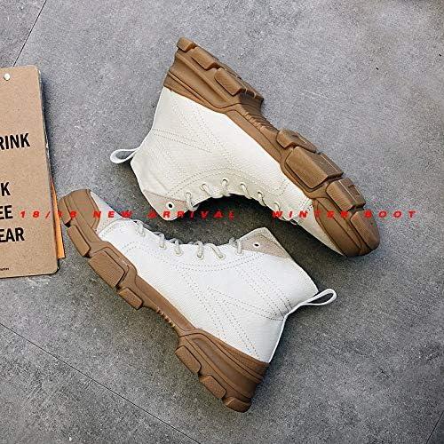 LOVDRAM Bottes Homme Martin Bottes Mode Hiver Chaussures Mode Hiver Chaussures Chaussures Housses Homme Bottes en Coton Hiver