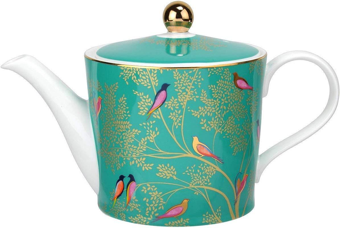 Sara Miller London For Portmeirion Chelsea Collection 2 Pint Teapot Green