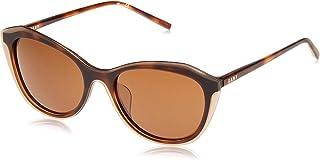 نظارة شمسية كونكريت للنساء من دي كيه ان واي بتصميم عين القطة لون بني مرقط
