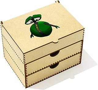 Azeeda  Green Robot  Vanity Case Makeup Box  VC00020445