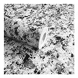 Huabei2 Wand-Aufkleber Murals lösbare Tapeten Borders Terrazzo Marmorblick-Granit-Effekt Haftpapier Gloss Vinylverpackungs-Film KücheCountertop Peel-Stock-Tapete Aufkleber 17.7inch x98inch