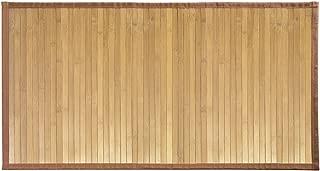 iDesign Formbu Bamboo Floor Mat Non-Skid, Water-Repellent Runner Rug for Bathroom, Kitchen, Entryway, Hallway, Office, Mudroom, Vanity, 34