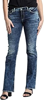 Silver Jeans Co. Women's Plus Size Elyse Relaxed Fit Mid Rise Bootcut Jeans