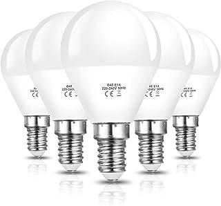 Vicloon E14 LED Lampe G45, E14 LED Birne 6W ersetzt 40W Glühlampen, 600 Lumen, 3000K Warmweiß, AC 220V-240V, Nicht Dimmbar...