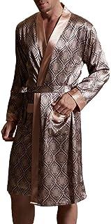Dressing Gown Mens Silk Pajamas Nightgown Bathrobe Lightweight Comfortable Sizes Cozy Men Nner Homewear Bathing Robe Dress...