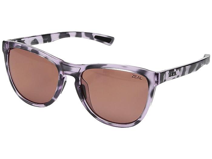 Zeal Optics  Bennett (Lilac Tortoise/Polarized Rose Lens) Athletic Performance Sport Sunglasses