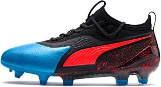 Official Brand Puma One 19.1 Firm Ground Football Boots Juniors Blue/Black Soccer Cleats Shoes