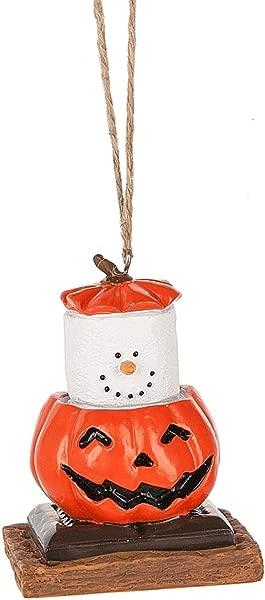 S Mores Original 2017 Pumpkin Jack O Lantern Ornament