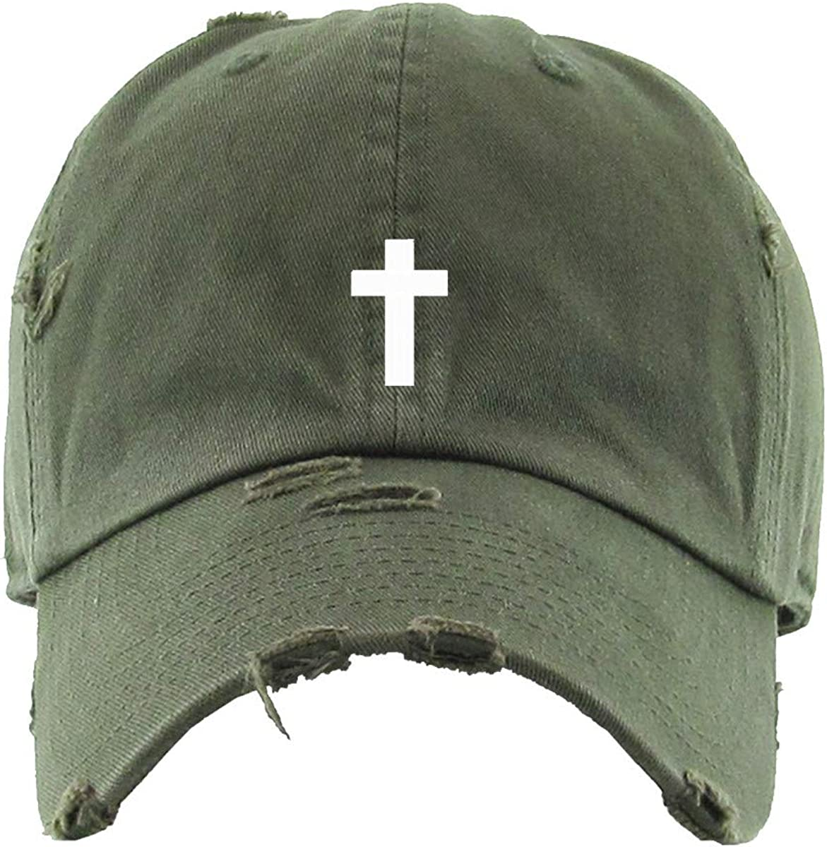 Cross Vintage Baseball Cap Embroidered Adjustable Max 81% OFF Distres Sale special price Cotton