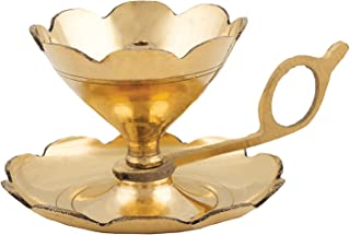 Shubhkart Aarti & Diya Lamp/Oil Lamp with a Supportive Handle