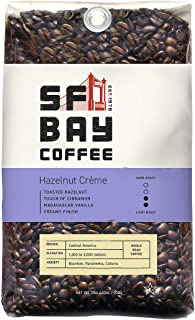 SF Bay Coffee Hazelnut Crème Whole Bean 2LB (32 Ounce) Flavored Medium Roast