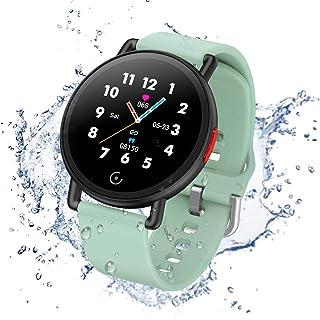 Smartwatch Pulsera Actividad Inteligente Reloj de Fitness Tracker Impermeable IP68 con Podómetro Pulsómetro Monitor de Sueño para Hombre Mujer Niños con iOS y Android