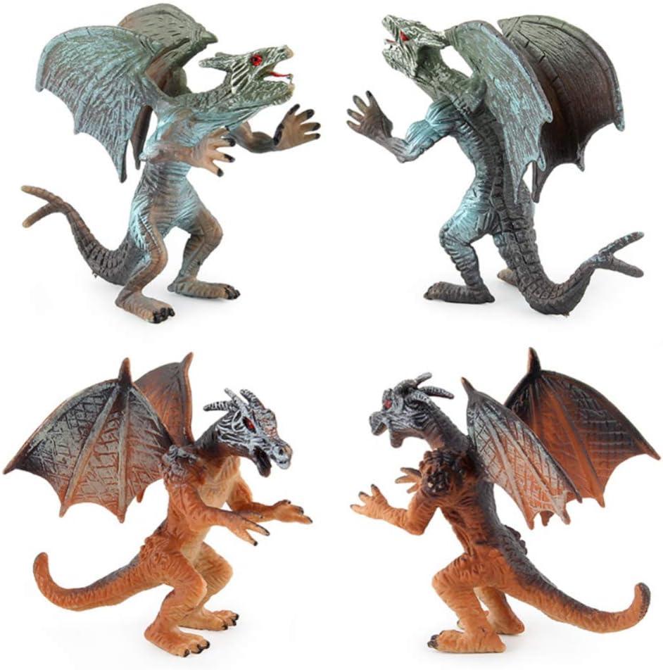 Elegant LIZHOUMIL Dinosaurs Play shipfree Set 4pcs Flying Dragon Double Model