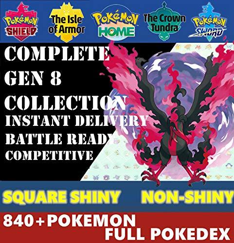Pokemon Sword & Shield Full Galar Complete Pokedex Square Shiny Or Non Shiny Battle Ready