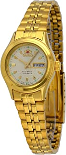 Orient FNQ0400BC Women's Stainless Steel Gold Tone 3 Star Gold Dial Automatic Watch