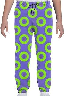 Jogger Pants,Green Phish Circles Sweatpants Active Sports Leggings for Boys Girls