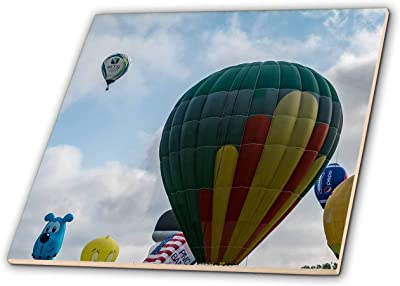 3dRose Hot Air Balloon Fiesta Albuquerque New Mexico Framed Tile 6 x 6