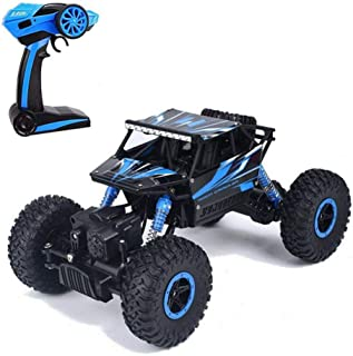 Tuptoel Toys for Boys Off-Road RC car 1:18 Scale Mouster Car 2.4Ghz 4WD Hi-Speed Racing Car, RC Truck-Blue, Electric Car for Kids