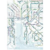 東京カートグラフィック 鉄道路線図クリアファイル 中部 日本語 RFCJ