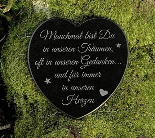 Grabschmuck Gedenkstein Herz Trauerspruch