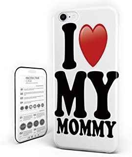 Customize Phone Protective Cover I Love My Mommy Ultra Slim Protective Hard Plastic Case Cover for Cover Phone Case for iPhone 7 Plus/8 Plus