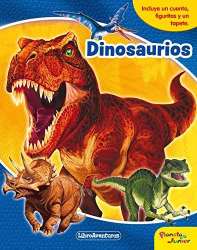 Dinosaurios. Libroaventuras: Incluye un cuento, figuritas y un tapete