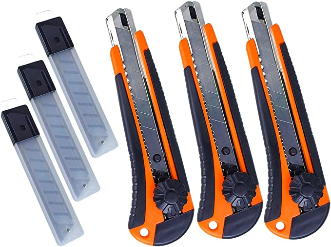 19 opinioni per LEDLUX 3 PCS Taglierini Cutter Professionale 18mm ,Con Anello Di Foro Per