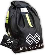 Car Seat Travel Bag by Makenzo - Baby & Child Car Seat Bag - Adjustable Padded Shoulder Straps & Foldable with Zipper Pouch - Large & Durable Backpack - Gate Check Bag - Dirt & Sun Storage Protector