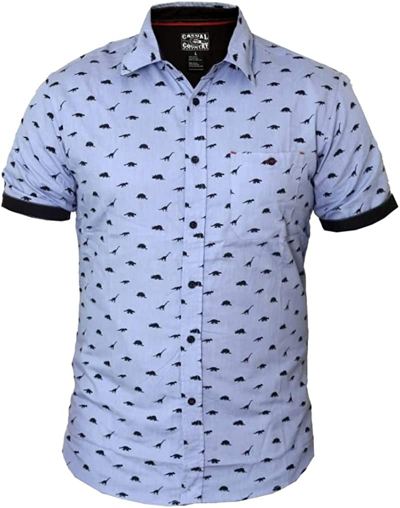 Casual Country - Men's Short-Sleve Button-Down Shirt with Print