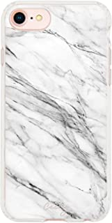 Casery iPhone 8 Plus, iPhone 7/6 Plus Case, White Marble (Light Stone) - Premium - Military Grade Protection - Drop Tested - Protective Slim Clear Case for Apple iPhone 8 Plus, iPhone 7/6/6s Plus